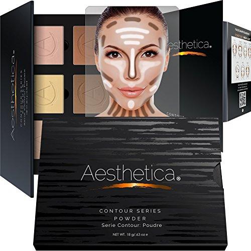 Aesthetica Cosmetics Contour Kit - Powder Contour, Highlighter & Bronzer - Fair to Medium Skin Tones for sale
