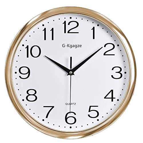 Cheap G-Kgagze 12″ Battery Operated Silent & Non-Ticking Wall Clock-Easy to Read (Rose Gold)