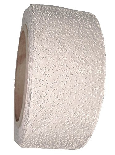 White Reflective Outdoor Basketball Court Marking Tape with Reflective Surface for Asphalt and Concrete 2 Inch x 30 Foot (1 Roll)