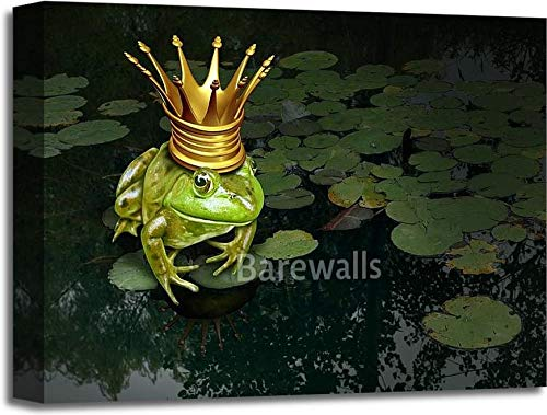 Frog Prince ConceptギャラリーWrappedキャンバスアート 16in. x 20in. B075R1K13Z  16in. x 20in.