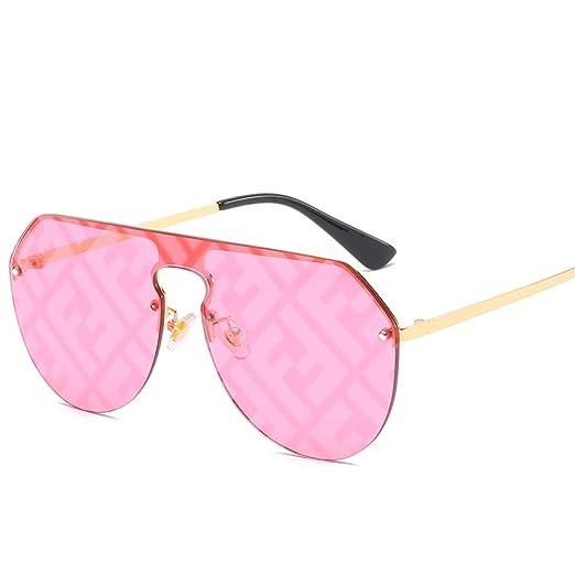 Yangjing-hl Gafas de Sol con Lentes siamesas Mujer Big Box ...