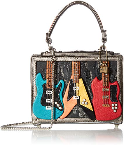 Mary Frances Rock Band Embellished Guitars Top Handle Bag, Multi