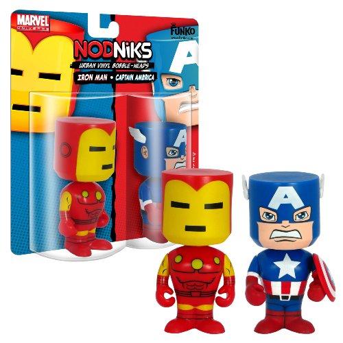Funko - Capt America/iron Man Nodniks