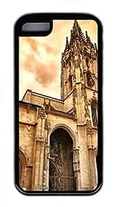iPhone 5c case, Cute Oviedo Cathedral iPhone 5c Cover, iPhone 5c Cases, Soft Black iPhone 5c Covers