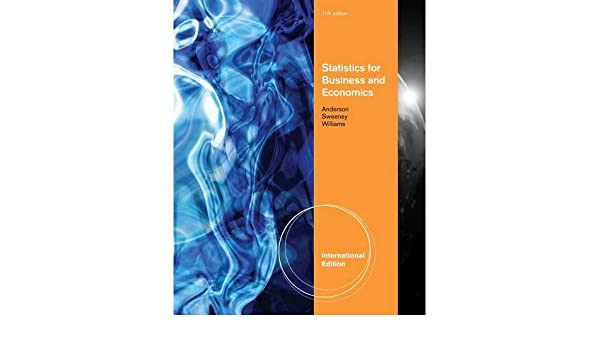 Statistics For Business And Economics 11th Edition ISBN 10