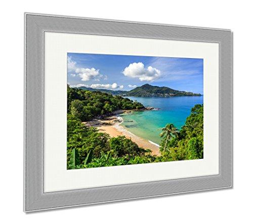Natural Wood Aqua Liquid (Ashley Framed Prints Laem Sing Beach Phuket Thailand, Wall Art Home Decoration, Color, 34x40 (frame size), Silver Frame, AG5889673)