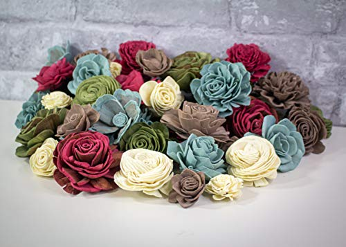 Sola Wood Flowers - Country Roads Assortment (Pack of 50)