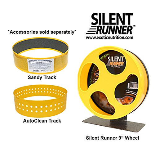 Exotic Nutrition Silent Runner 9'' - Pet Exercise Wheel + Cage Attachment by Exotic Nutrition (Image #4)