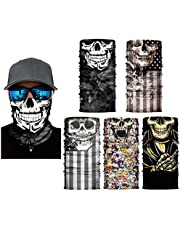 LEKA NEIL Skull Face Mask Gaiters Face Mask Neck Gaiters Face Cover Scarf Breathable Gator Mask Cooling Bandana Skull Scarf