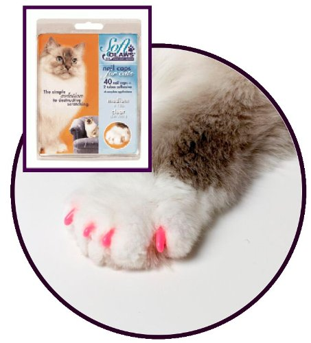 (Soft Claws for Cats - CLS (Cleat Lock System), Size Medium, Color Pink)
