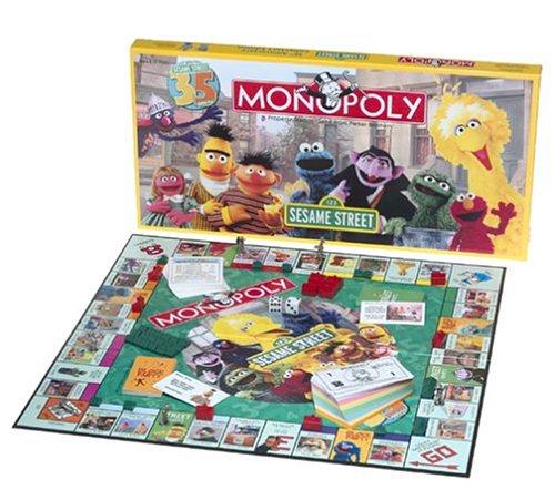 Amazoncom Usaopoly Sesame Street 35th Anniversary Edition Monopoly