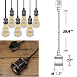 3-Light H-Type Wire Track Light Pendants 39.37 Inch