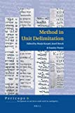 Method in Unit Delimitation, , 9004165673