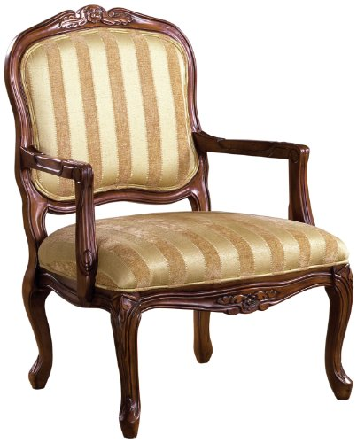 Furniture Antique Victorian - Furniture of America Solimar Arm Chair, Antique Oak