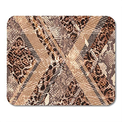 Semtomn Gaming Mouse Pad Pattern Animal Mix Print Seamless Background Texture Cheetah Leopard Organic 9.5