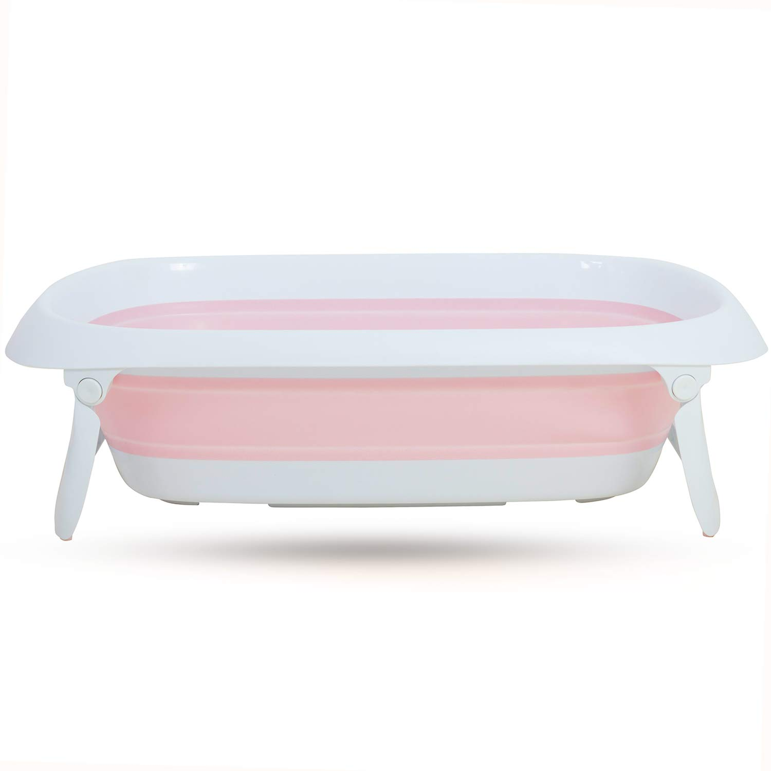 Baybee Bubble Tubby Baby Bathtub Double Elite - The Folding Baby Bath Tub for Kids (Tubby Pink)