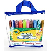 Crayola 25-count Washable Glitter Glue Pouch (25 Count)