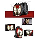 beausheen Iron Man Helmet Cool 3D Moulded LED Eye Backpack School Travel Bag 2016 New