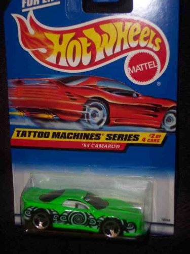 Price comparison product image Tattoo Machines #2 1993 Camaro 3-Spoke #686 Mint by Hot Wheels