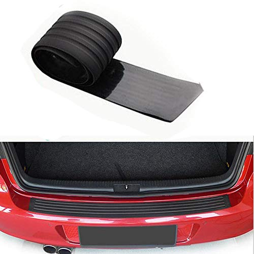 Gugou Rear Bumper Protector Guard Universal Black Rubber Scratch,Resistant Trunk Door Entry Guards Accessory Trim Cover for SUV/Cars,Easy D.I.Y. Installation(35.8Inch)