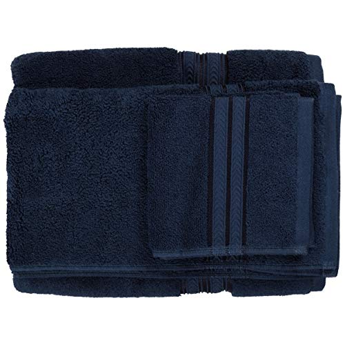 Better Homes Gardens Thick Plush Solid Bath Collection,6-Piece Set,Admiral Blue from Better Homes & Gardens