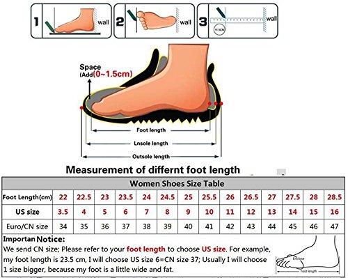 Sandales Chaussures Noir pour en Chaussures Forme d'été Sandales Plate Femmes Plates Daim Lady OROq1rg