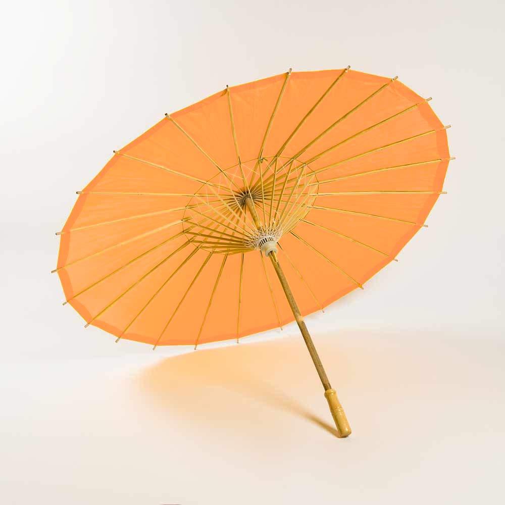 Quasimoon Paperlanternstore Com Bulk Case 32 Orange Paper Parasol Umbrellas 10 Pack