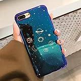 Pertaq - iPhone XS XR XSマックスX 8 7つの6つの6Sプラスレトロブルーレイファッションの漫画の電話バックカバーケースのギフトのために宇宙の惑星ケース