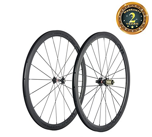 Sunrise Bike Ultra Light 700C 38mm Clincher 23mm Width Carbon Road Bicycle Colored - Wheel Clincher Ultra