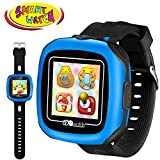 Kidaily Game Smart Watch Kids, 1.5'' Camera Touch Screen 10 Game,Timers,Pedometer,Alarm,Sport Health Activity Fitness Tracker Gift Boys Girls (3black)