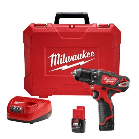 Cordless Drill/Driver Kit Drill Driver Kit 3/8in M12 by MILWAUKEE ELECTRIC TOOLS