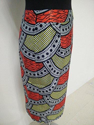 YOUJIA Mujeres Vintage Retro Falda Estampado Vestidos Midi Bodycon para Verano Geométrico
