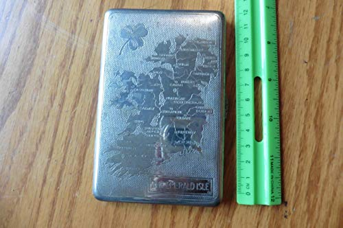 Vintage Purses Ebay - Genric The Emerald Isle Ireland Cigarette case Wallet Shamrock Vintage tin Card Holder