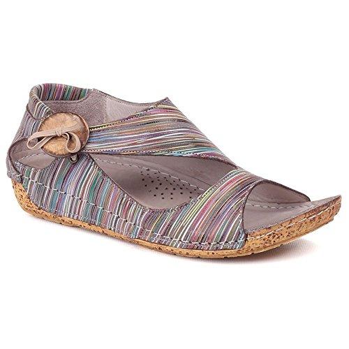 Riva - Sandalias de vestir para mujer multicolor marrón marrón