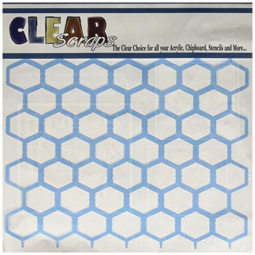 Clear Scraps Chicken Wire Stencils, 12 by 12