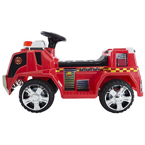 Deluxe Battery Powered Ride On Fire Truck - Great for -