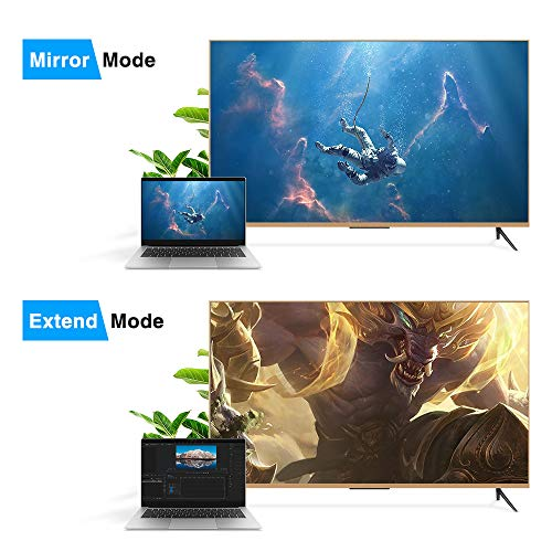 DP to HDMI Adapter, ELUTENG HDMI Video Converter Displayport to HDMI Cable Male to Female Support 3D 1080P Gold Plated Display Port Monitor to HDMI Cable Compatible for Desktop Laptop HDTV Monitor