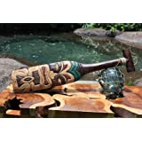 """TIKI PADDLE 22"""" HAND CARVED & PAINTED"""