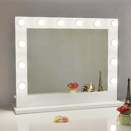 Amazon chende vanity mirror with light hollywood makeup mirror chende vanity mirror with light hollywood makeup mirror wall mounted lighted mirror free led bulbs aloadofball Images