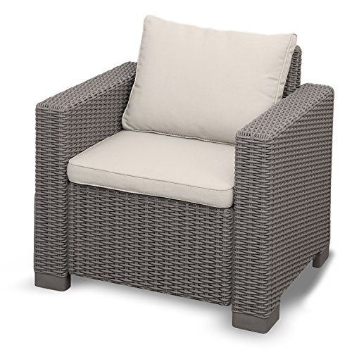 Yukon Glory Outdoor Patio Armchair Premium All Weather Garden and Porch Furniture Easy Assembly
