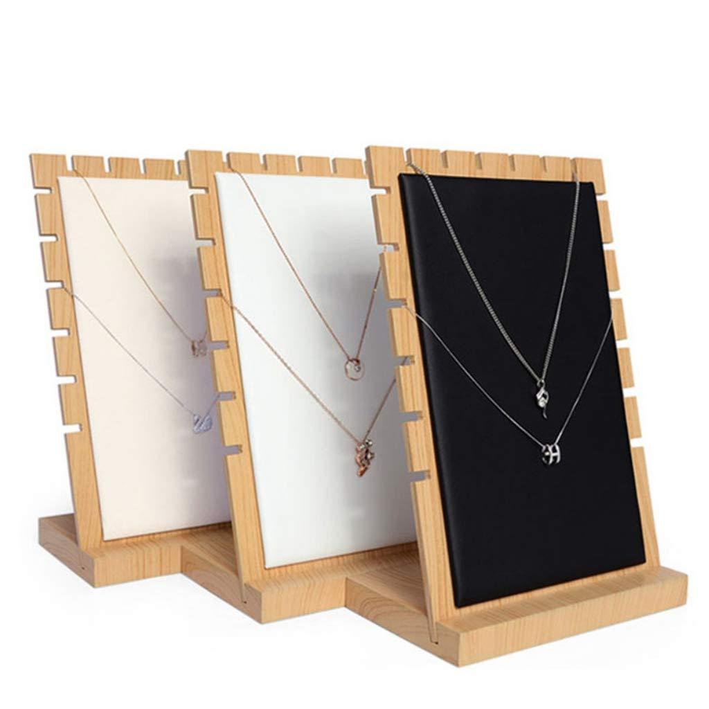 17,5 /× 10 /× 25,2 cm B Baosity Porte-Bijoux Pr/ésentoir pour Bijoux en Bois Bo/îtes /à Bijoux Support pour Ranger Boucles doreilles Colliers Beige