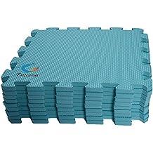 "EVA Foam Puzzle Mat,Foam Mats,EVA Foam Interlocking Floor Mats,9 Titles Exercise Mat,12"" by 12"""