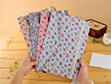 Floral Lovely Polka Dot Floral A4 Pouch Bag Case Paper Cute Korean Office School Filing Products Document