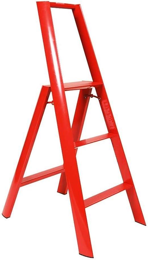 CAIJUN Escalera Unilateral Espina De Pescado Plegable Sola Recta Multifuncional Conjunto Entero Alpinismo Menaje, 4 Colores, Escalera De 3 Peldaños Doble Uso (Color : Red, Size : 529x738x1223mm): Amazon.es: Hogar