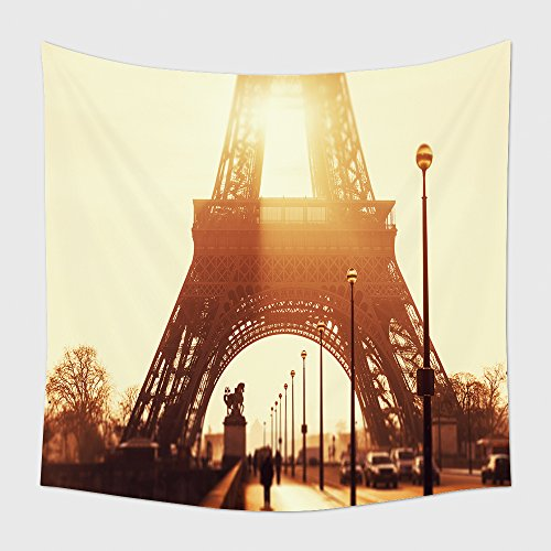 Home Decor Tapestry Wall Hanging Tour Eiffel At Sunset_175730338 for Bedroom Living Room Dorm (Halloween Home Decor Tour)