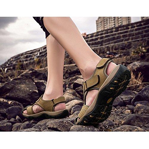 YQQ Scarpe Viaggio Scarpe Festa Da Accogliente Antiscivolo Traspiranti Estate Scarpe Da Sandali Da Spiaggia Casual Maschili Uomo Pantofole Cachi Trekking Scarpe Da Scarpe Scarpe Da raqExtrw