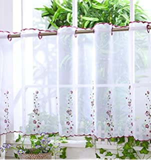 BATHROOM VOILE CAFE NET CURTAIN PANELS -D16 - CRAZY FISH - 12 ...