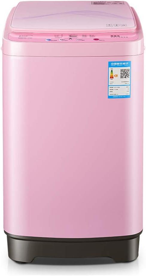 Lavadora Totalmente automática, Interior Rosa pequeña pequeña Secadora de Gran Capacidad, apartamento para niños de Alta Temperatura para el hogar 450 * 450 * 760 mm
