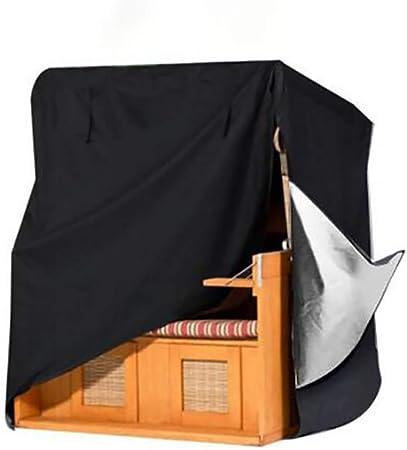 WONG - Funda para Barbacoa de jardín de ratán para Muebles de jardín, Funda para Silla de Playa, Columpio, Color Negro, 130x100x170/140cm: Amazon.es: Hogar