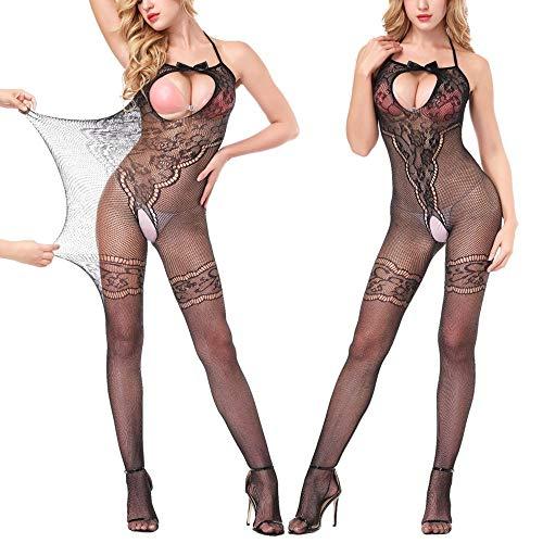Femmes Noir Fourche De Crotchles ◕‿◕LianMengMVP Sheer Body Lingerie Résille Bas Ouverte Sexy PAdxRHwq
